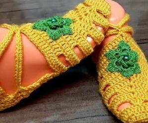 Te enseñamos a Tejer este BOTIN a Crochet Superfacil