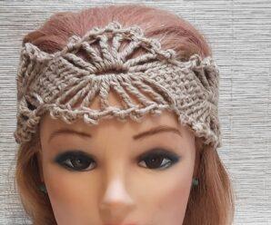 Hermosa DIADEMA en punto Magico a Crochet Superfacil