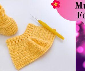 Lindos Patucos de Bebe a Crochet + Patron truco