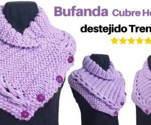 Bufanda de Invierno Tejido a Crochet Superfacil
