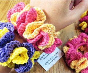 Lindo Sujetador de Cabello a Crochet