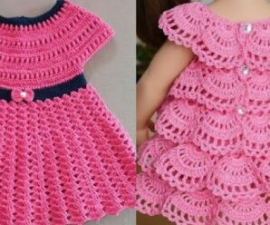 Vestido para niña Tejido a Crochet Facil y Rapido