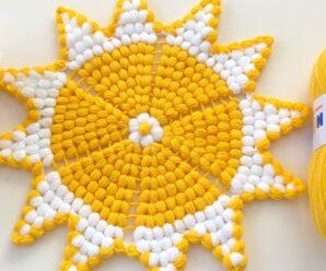 Precioso Tapete tejido a Crochet