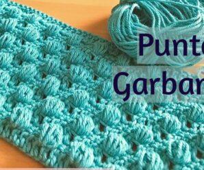 Como Tejer Punto GARBANZO a Crochet Paso a paso