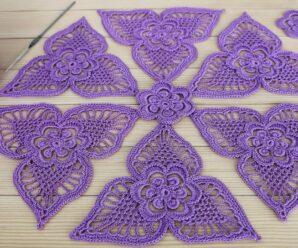 Motivo Encaje Tejido a Crochet Clase Maestra