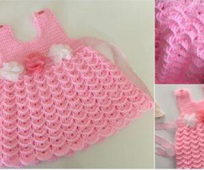 Precioso modelo de vestido a Crochet Paso a paso + Patron