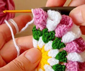 Lindo Tapete Posavasos tejido a Crochet